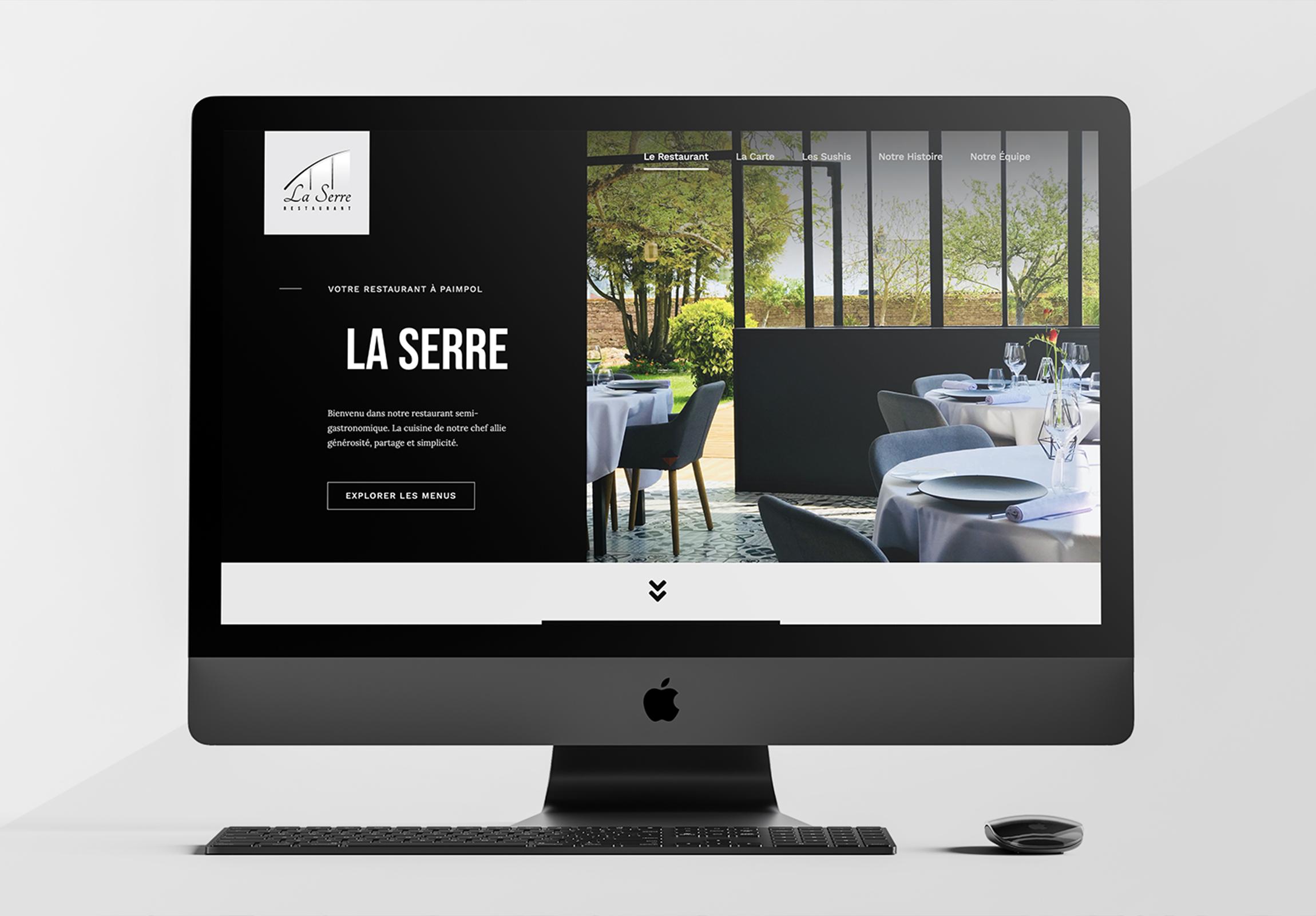 Refonte de la charte graphique et création du site internet du Restaurant La Serre de Paimpol. Logiciels: Wordpress, Photoshop. Graphiste, Web designer - Réalisé par paulalexandre